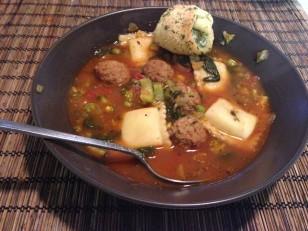 zuppa di ravioli