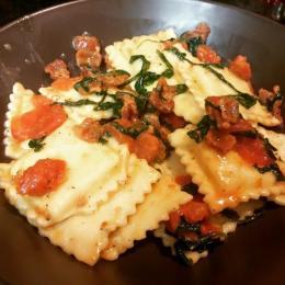 ravioli & panchetta