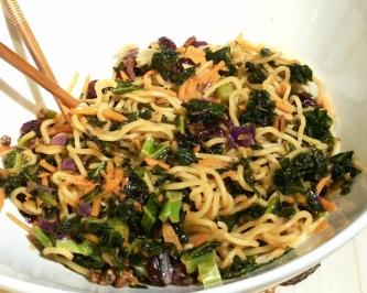 kale noodle bowl spclose